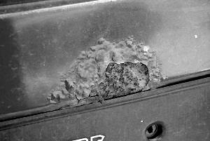 Очажная коррозия на кузове автомобиля